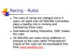 racing rules
