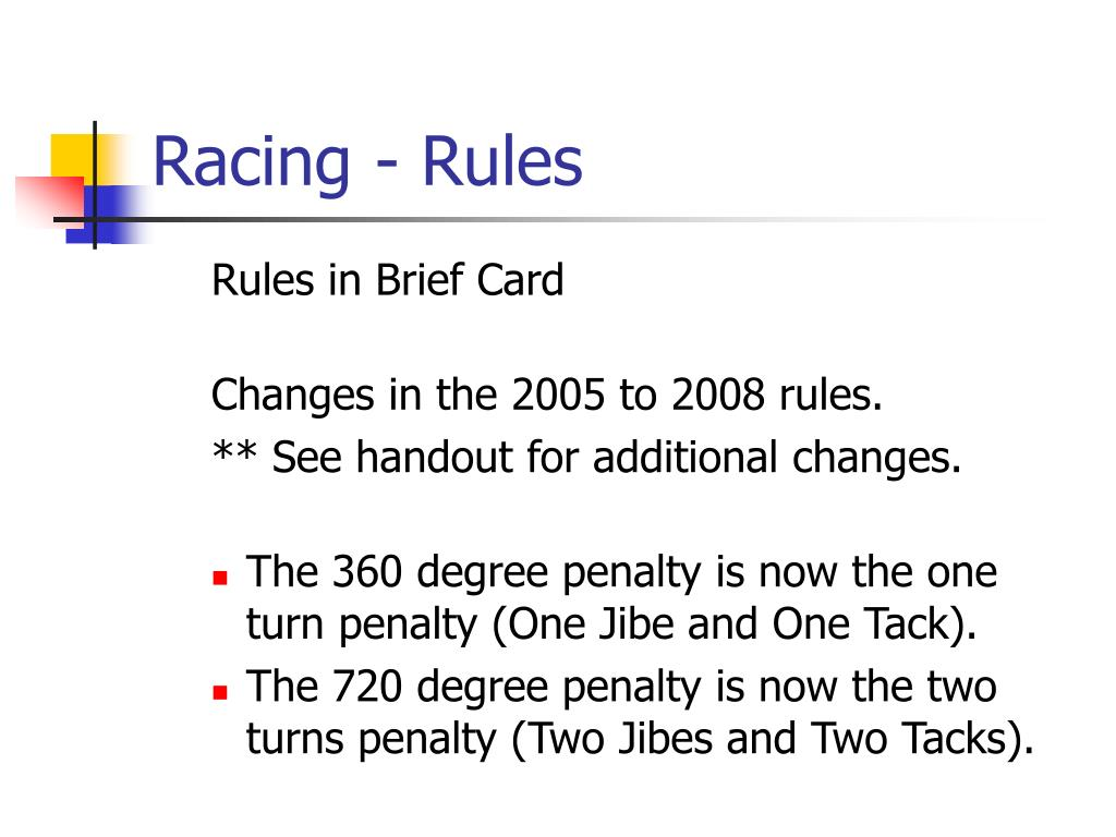 Racing- Rules