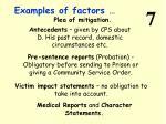 examples of factors