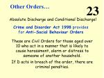 other orders