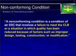 non conforming condition1