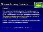 non conforming example