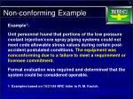 non conforming example1