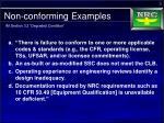 non conforming examples