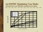 an emtdc simulation case study system power loss with dg at different locations