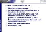 some key activities of cul