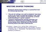 writing shapes thinking