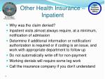 other health insurance inpatient