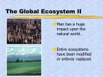 the global ecosystem ii