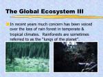 the global ecosystem iii
