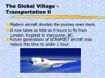 the global village transportation ii