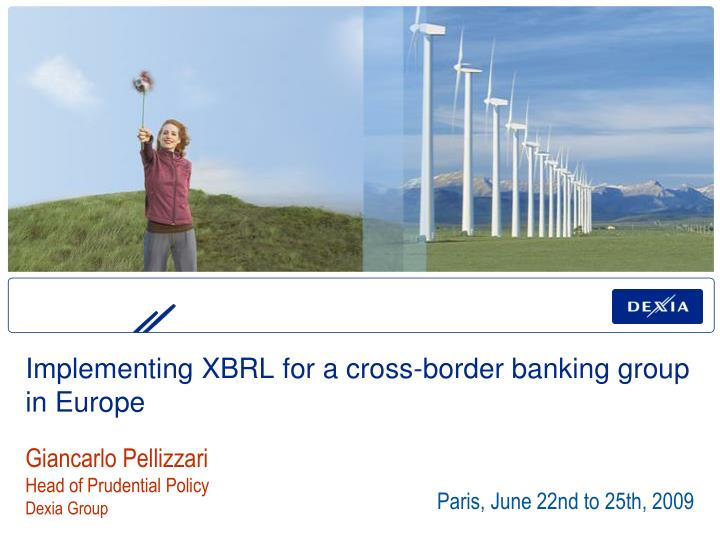 implementing xbrl for a cross border banking group in europe n.