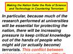 making the nation safer the role of science and technology in countering terrorism