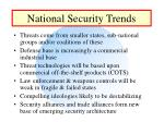 national security trends