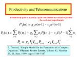 productivity and telecommunications