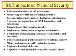 s t impacts on national security