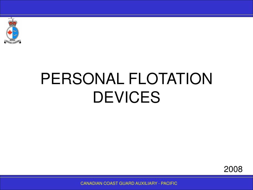 personal flotation devices l.