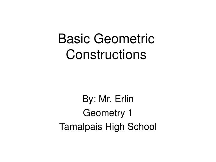 basic geometric constructions n.