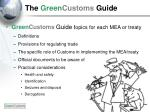 the green customs guide