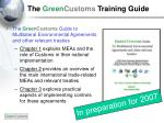 the green customs training guide