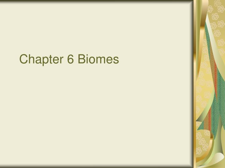 chapter 6 biomes n.