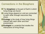 connections in the biosphere