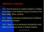 bioethics in jamaica