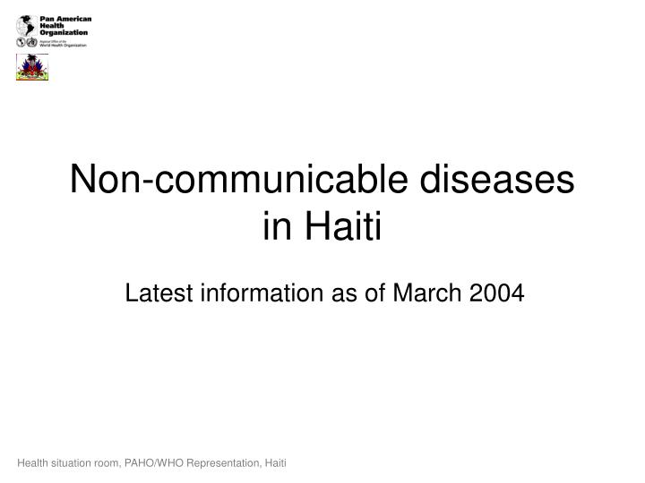 non communicable diseases in haiti n.