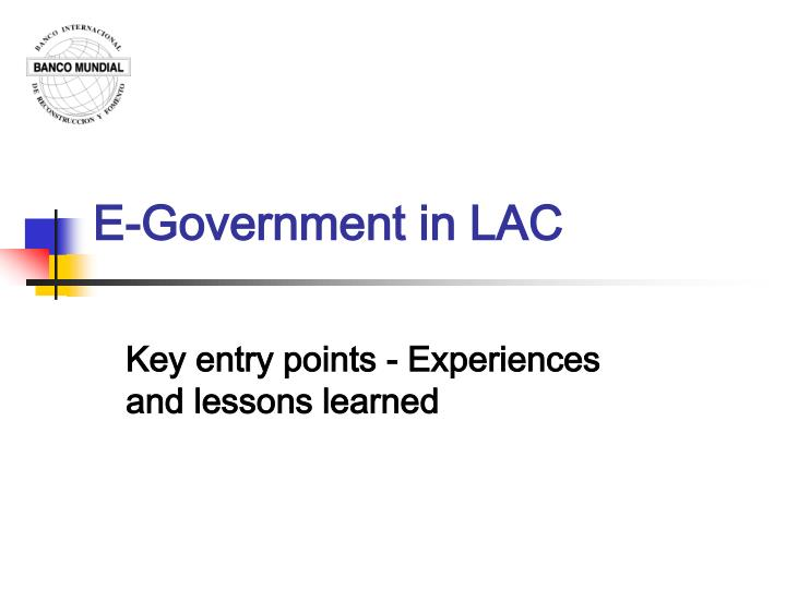 e government in lac n.