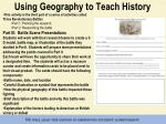 using geography to teach history