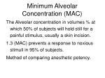 minimum alveolar concentration mac
