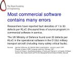 most commercial software contains many errors