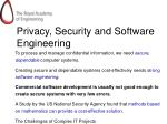 privacy security and software engineering
