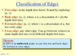 classification of edges