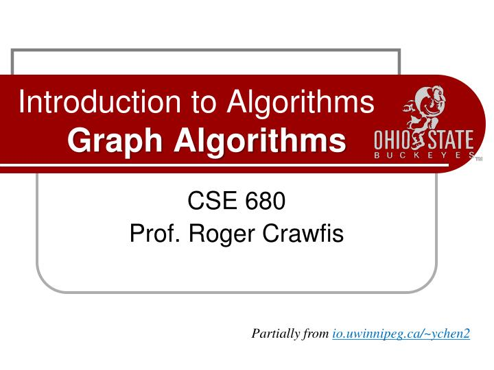 introduction to algorithms graph algorithms n.