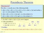 parenthesis theorem