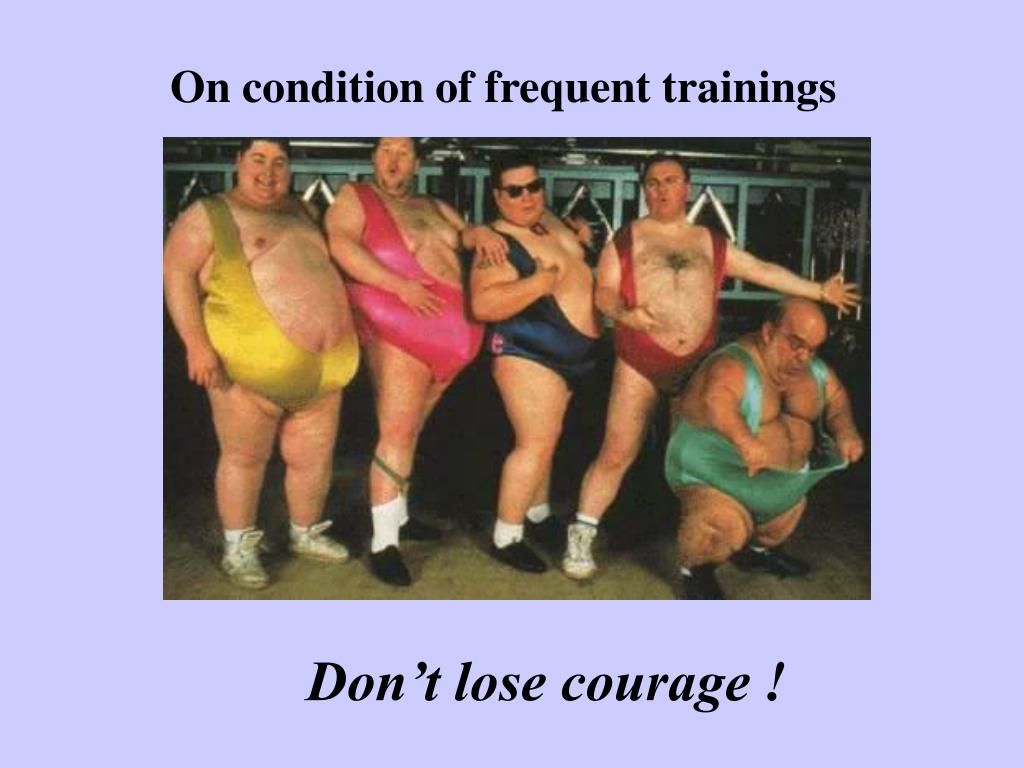 On condition of frequent trainings