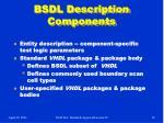 bsdl description components