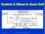 control observe scan cell