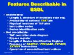 features describable in bsdl