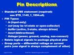 pin descriptions