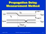 propagation delay measurement method
