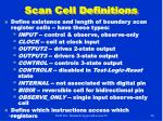 scan cell definitions