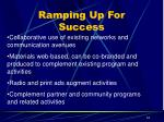 ramping up for success