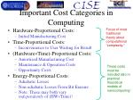important cost categories in computing
