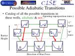 possible adiabatic transitions