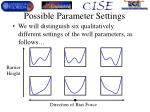 possible parameter settings