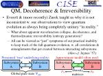 qm decoherence irreversibility