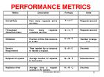 performance metrics2