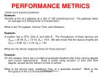 performance metrics8